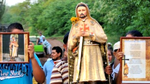 Imagen de San Nazario, como se llamó al líder de Los Caballeros Templarios.