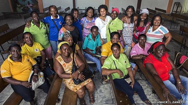 Mujeres de la red Mariposas de Alas Nuevas en Buenaventura. Foto: UNHCR/l.Zanetti