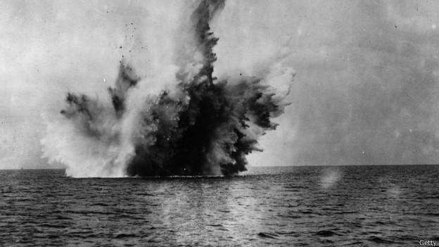 Batalla naval durante la Primera Guerra Mundial