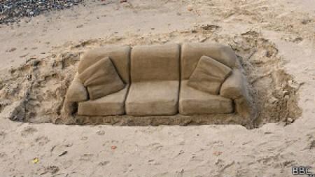 Sofá de arena