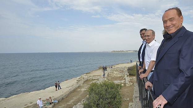 Vladimir Putin y Silvio Berlusconi