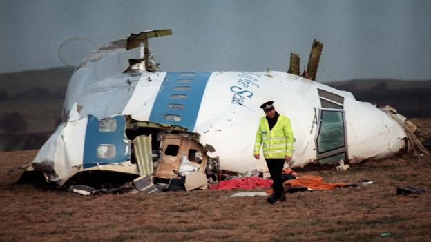 Los restos del avión de Lockerbie