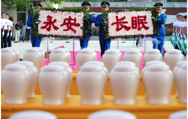Cremación en China
