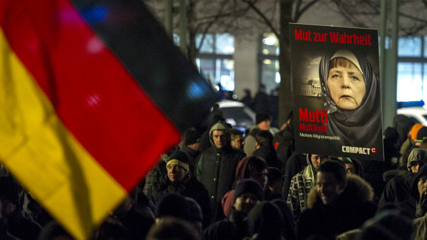 protesta antiinmigración en Alemania