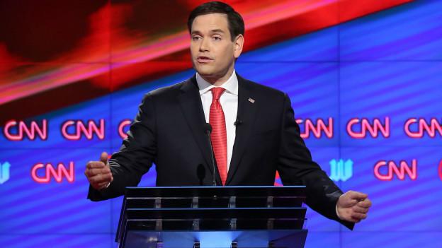 """Marco Rubio dijo que le sería """"difícil"""" respaldar a Donal Trump si éste logra la nominación republicana."""