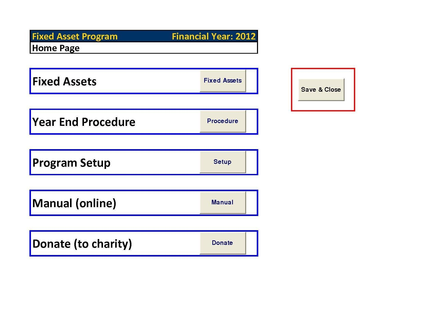 Fixed Assets Pro Excel Download