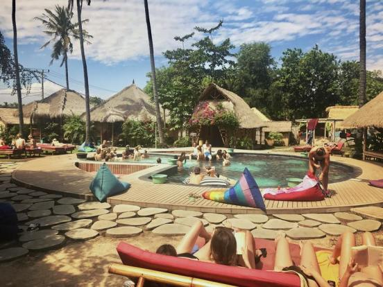 begadang hostel gili air bali one month itinerary