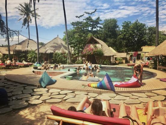 begadang hostel gili air bali one month itinerary