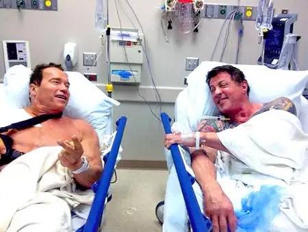 noticias Arnold Schwarzenegger y Sylvester Stallone, juntos en el hospital