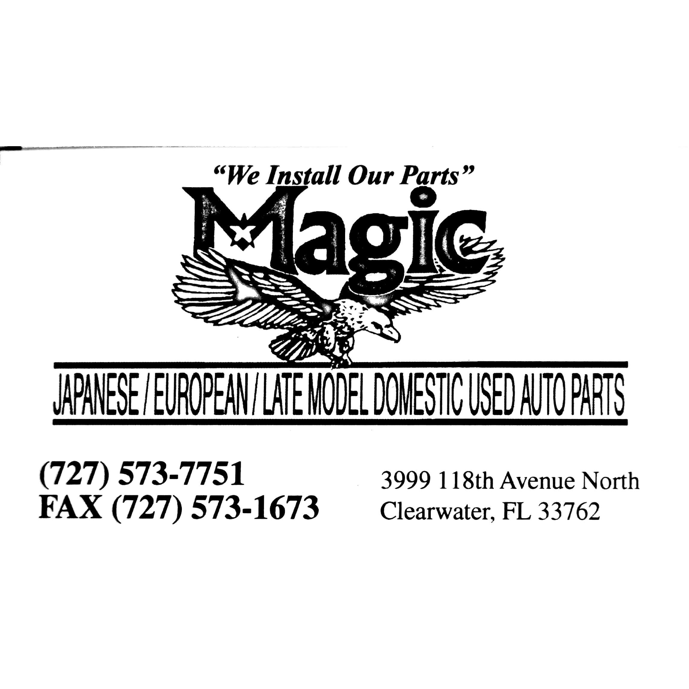 Magic Used Auto Parts At 118th Ave N Clearwater Fl