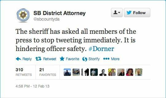 San Bernardino County's District Attorney's Office tweet