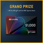 Win $1,000 to the NBC Sport Store in the Ultimate Sports Fan Sweepstakes 11/30 {US}