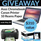 Win an Asus Chromebook, a Canon Printer and More! Ends 5/23 {US}