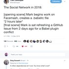 The Social Network in 2018