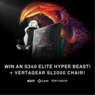 Win a NZXT S340 Elite Hyper Beast PC Case + Vertagear SL2000 Gaming Chair! {US} (6/30/17)