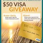 Win a $50 Visa Gift Card from Sturdevant-Beach & Associates, Insurance Agency {US} (12/31/2018)