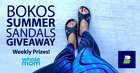 Win Bokos Summer Sandals - 1 winner every a week! {US CA} (8/30)