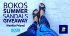 Win Bokos Summer Sandals - 1 winner every a week! {US CA} (8/30)