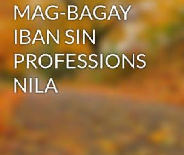 Kissa Sin Mag Bagay Iban Sin Professions Nila