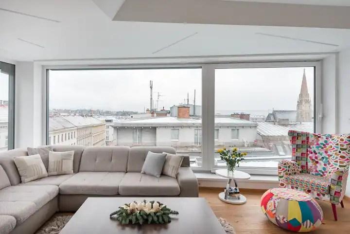 minimalist corner penthouse with