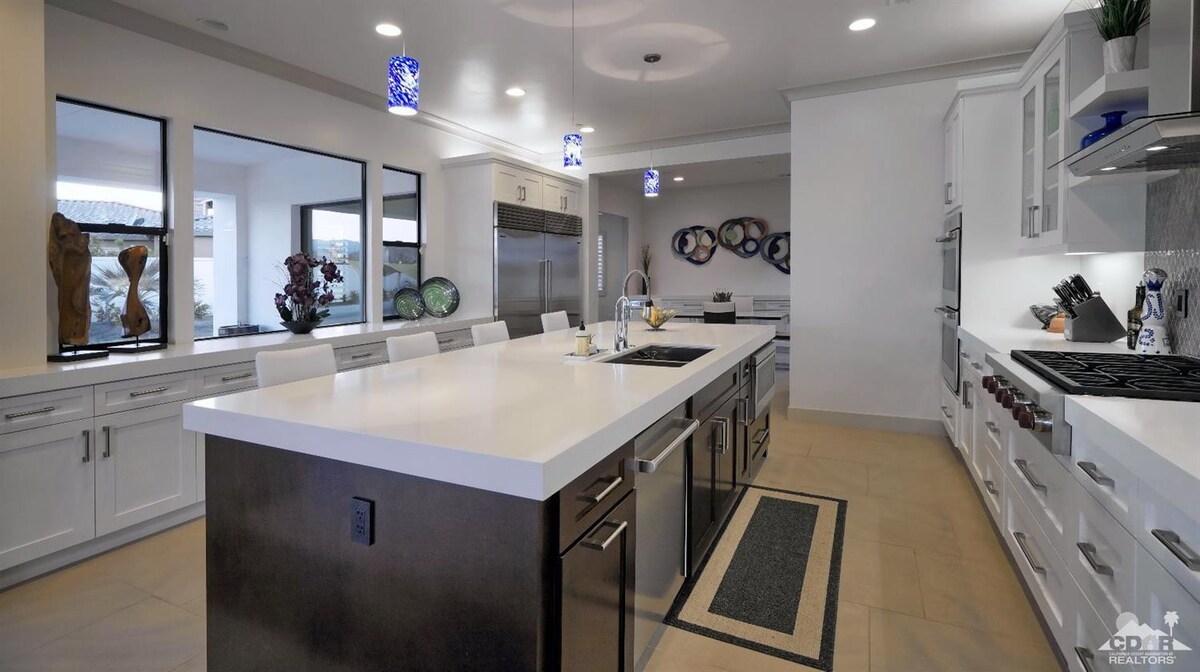 Gourmet kitchen with Wolf and Sub-Zero appliances