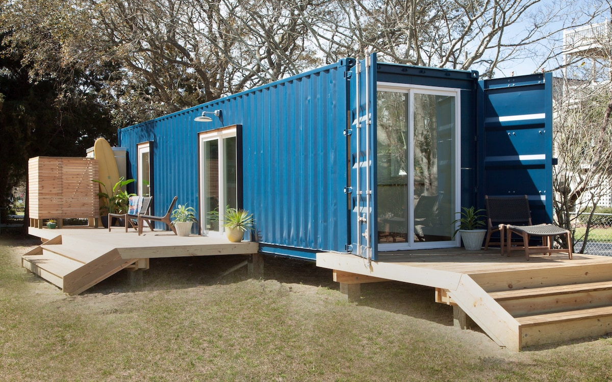 Best Kitchen Gallery: Modern Beach Container Home 2 Tiny Houses For Rent In Carolina of Container Beach Homes on rachelxblog.com
