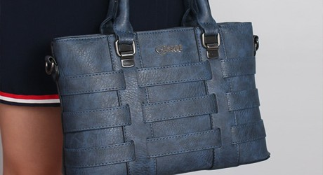 Винтажная кожаная женская сумочка - ZMQN