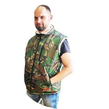 """Мужской жилет c овечьим мехом """"Северный город"""""""