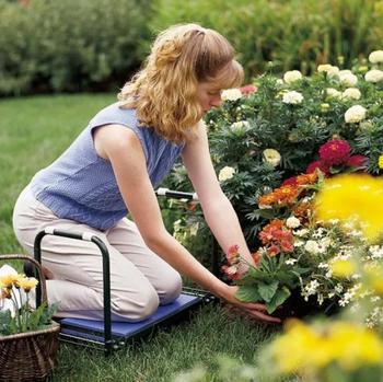 Металлическая садовая скамейка-перевертыш 2 в 1
