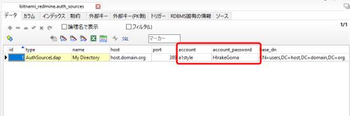A5:SQL Mk-2でauth_sourcesを表示したところ