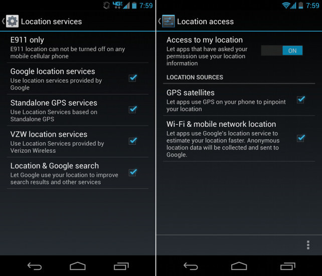Android Location Services