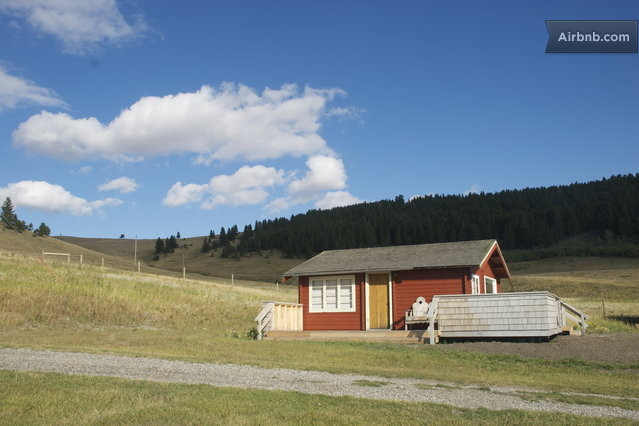 The Panabode guest house at Flint Rock Ranch, Pincher Creek, Alberta. One option for access to the national park.