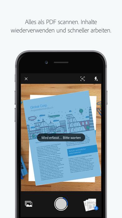 Adobe Scan: Dokumente als PDF scannen Screenshot
