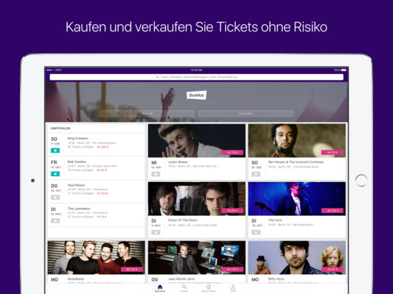 StubHub Marktplatz – Kauf & Verkauf von Tickets Screenshot