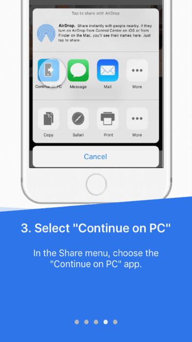 Continue on PC Screenshot