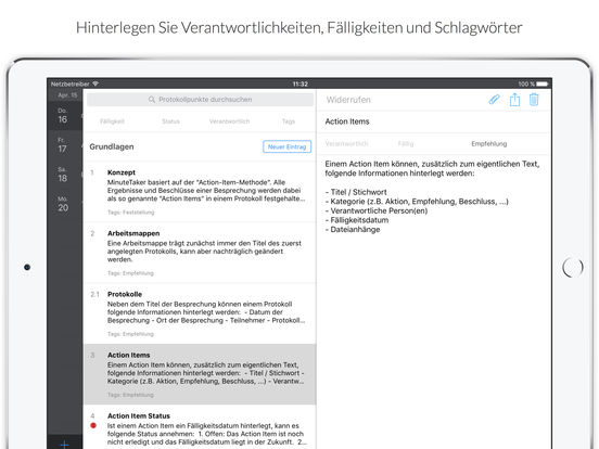 MinuteTaker - Protokolle erstellen und verteilen Screenshot