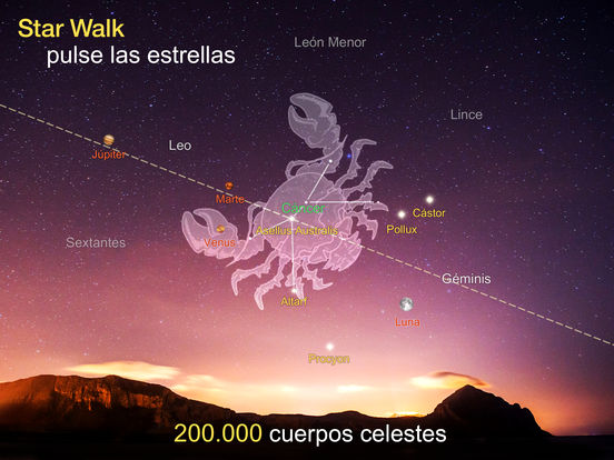 Star Walk HD Cielo Nocturno Mapa para ver planetas Screenshot