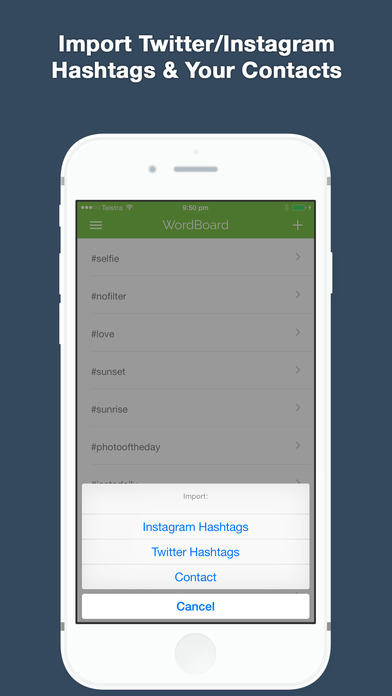 WordBoard Keyboard - Save Time Typing Screenshot