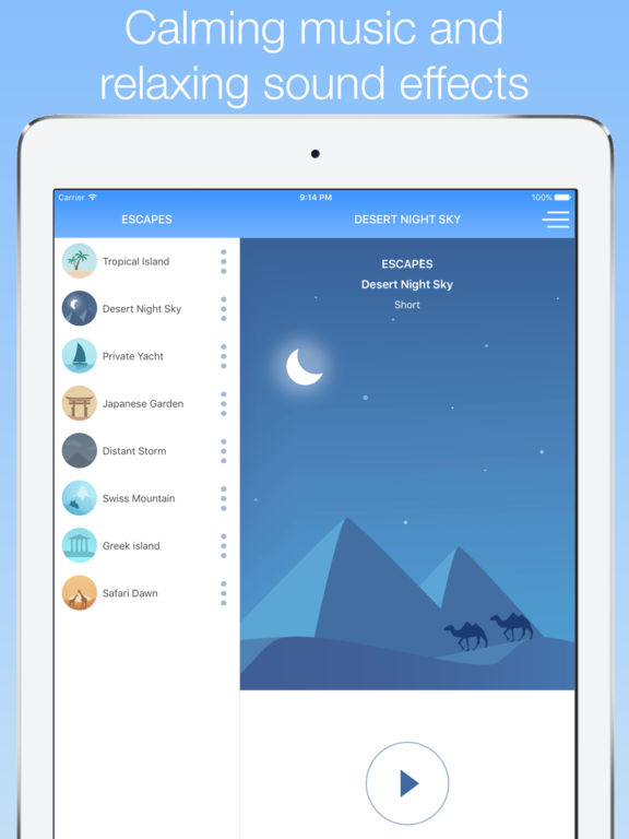 5 Minute Escapes - Guided meditation & relaxation Screenshot