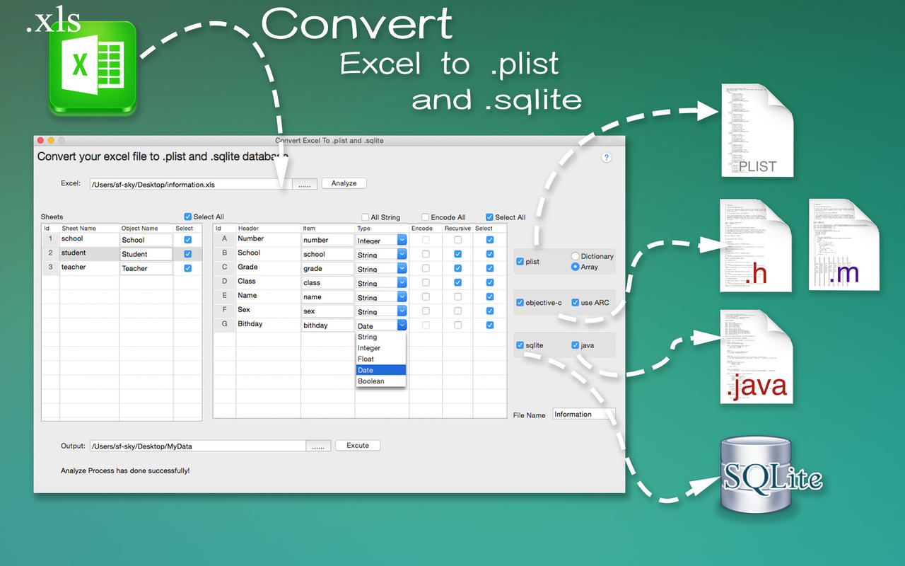App Shopper Convert Excel To Ist And Sqlite Developer Tools