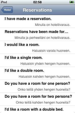 Jourist Visual PhraseBook Finnish