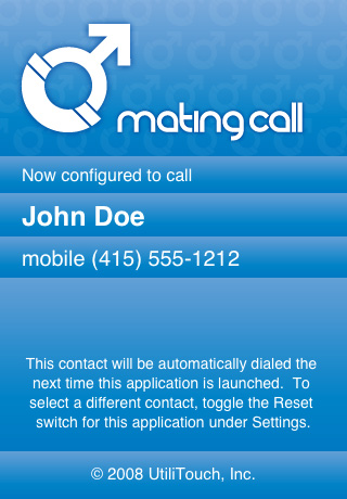Mating Call (Male) — Speed Dial