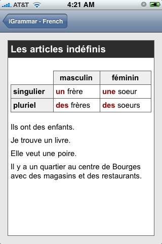 IGrammar - French