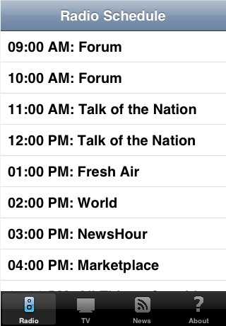KQED Daily Schedule