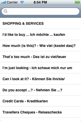 English-German Language Translator Phrasebook