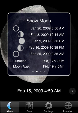 MoonPhase - moon info