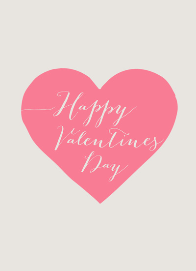 Happy Valentines Day Art Print