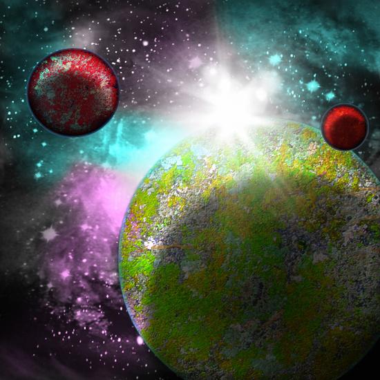 planets galaxy art print