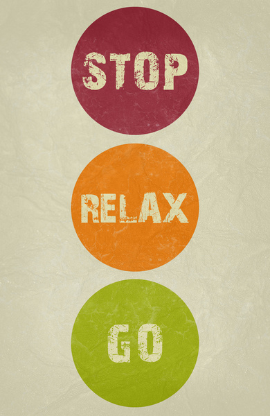 Go Relax Stop Poster Print on Society 6