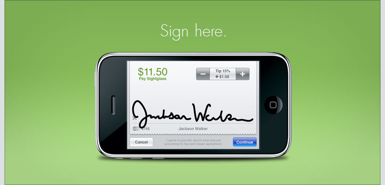 Sign here.